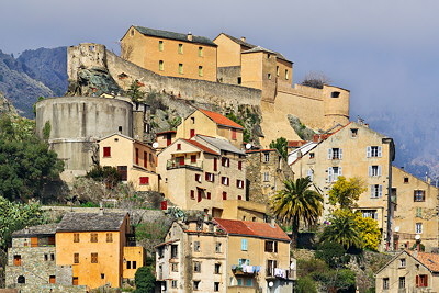 The citadel and the old houses of Corte