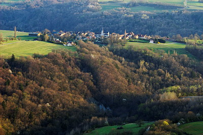 Photograph of Musiege a hilltop village in Haute Savoie, France