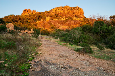 Autumn landscape around the Rocher de Roquebrune
