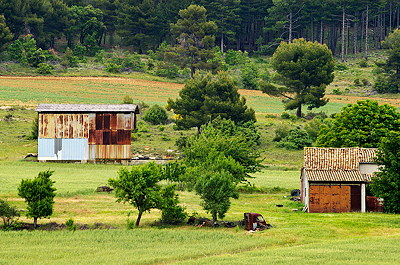 Old Barns in the Alpes de Haute Provence