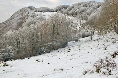 Snow on the Vuache mountain