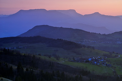 Dusk light on Massif des Bauges