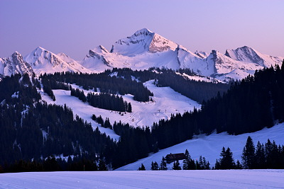 Photograph of Mount Charvin in Aravis mountain range