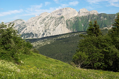 Photograph of Bargy mountain in Massif des Bornes, France
