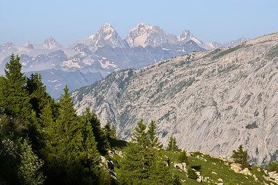 Mountain landscape in Haute Savoie