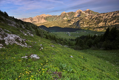 Lanscape image of the mountains of Massif des Bornes in France