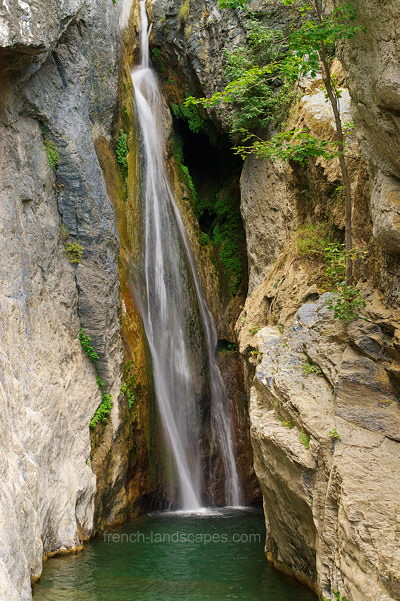 Waterfall in Corsica river