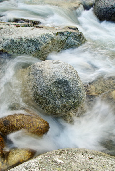Water and rocks in Abatesco river - Corsica