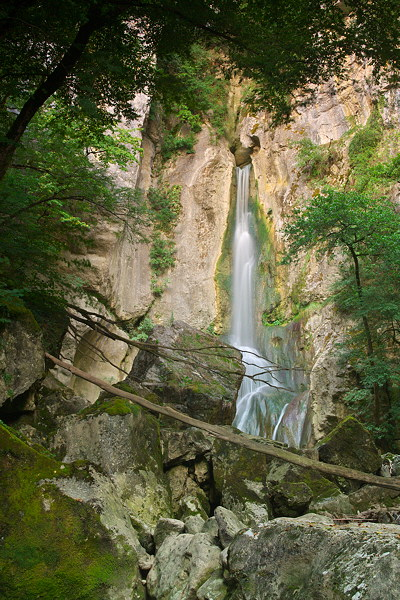 Barbennaz waterfall