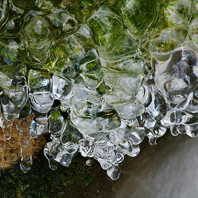 Ice formations in the Fornant river