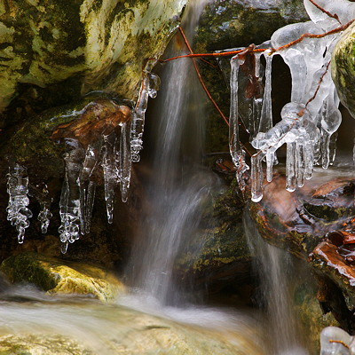 Ice in Fornant river