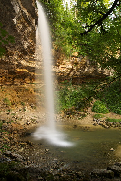Photograph of Saut Girard waterfall on Herisson river