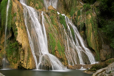 Long exposure photograph at Glandieu waterfall in France. Ain department.