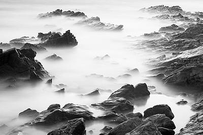 Rocks in the Mediterranean sea - long exposure