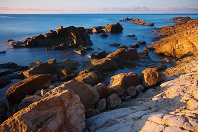 Vivid morning on the Mediterranean sea
