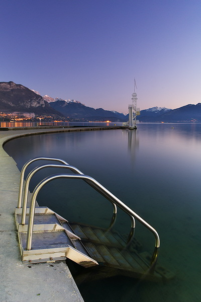 Annecy - Dusk on the Imperial beach