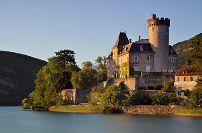 Duingt castle on Annecy lake - France