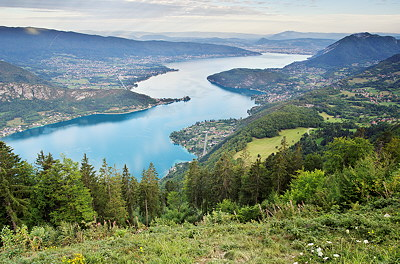 Photo of Annecy lake from the mountains