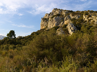 High definition landscape around Eyguieres in Provence