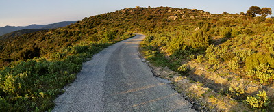 Mountain road through the Provence hills - Panoramic landscape