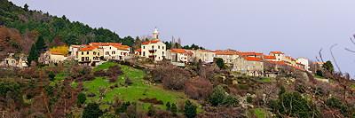 Vezzani village in winter - Corsica