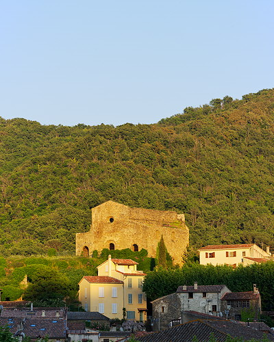 Evening light on Collobrières village - Provence