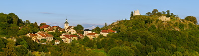 Panoramic view of Chaumont village - Haute Savoie