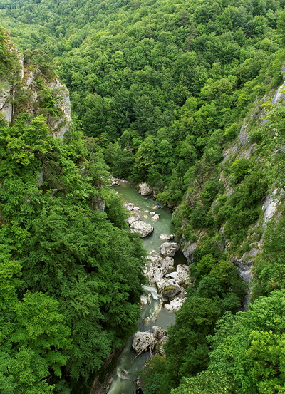 River Chéran running through Massif des Bauges