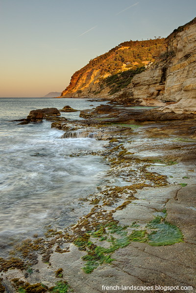 Mediterranean seascape at dawn time