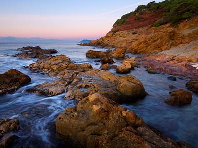 Mediterranean seascape at dawn time