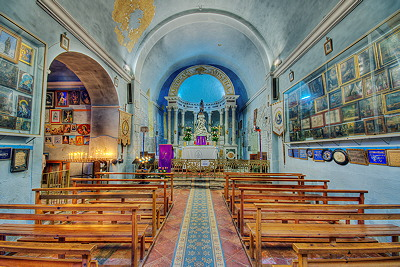 Inside view of Notre Dame des Anges