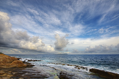 Big sky over the Mediterranean sea