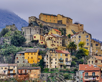 Corsica - Corte by a winter morning
