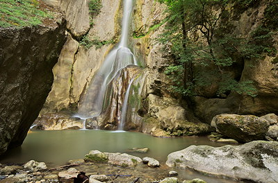 Image of Barbennaz waterfall in Haute Savoie, France